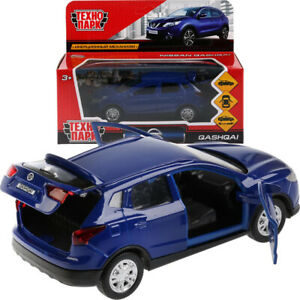 Nissan-Qashqai-Azul-Diecast-Modelo-Coche-Escala-1-36
