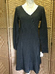 Ladies-Black-Notch-Designer-Penelope-Dress-By-CREAM-Winter-UK-Size-10-12-BNWT