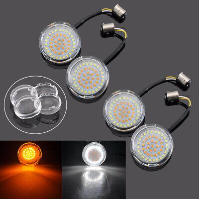 Len Visors for Harley-Davidson 2x Amber LED 1157 Rear Turn Signal Light Lamp