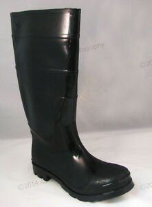 e6433bc18fc8f Men s Rain Boots Black Rubber Waterproof Slip-Resistant Snow Work ...