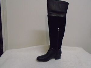 f5fe550c44ae H by Halston Leather   Suede Over-the-knee Boots - Kora black 7m new ...