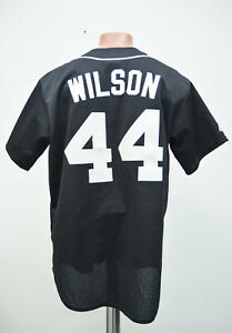 huge discount 33b37 f94c2 Details about MIAMI MARLINS BASEBALL SHIRT JERSEY MAJESTIC WILSON # 44 SIZE  L ADULT