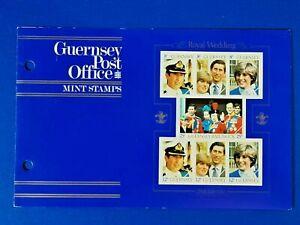 GB Guernsey Set of 7 Mint Stamps Presentation Pack 1981 Royal Wedding