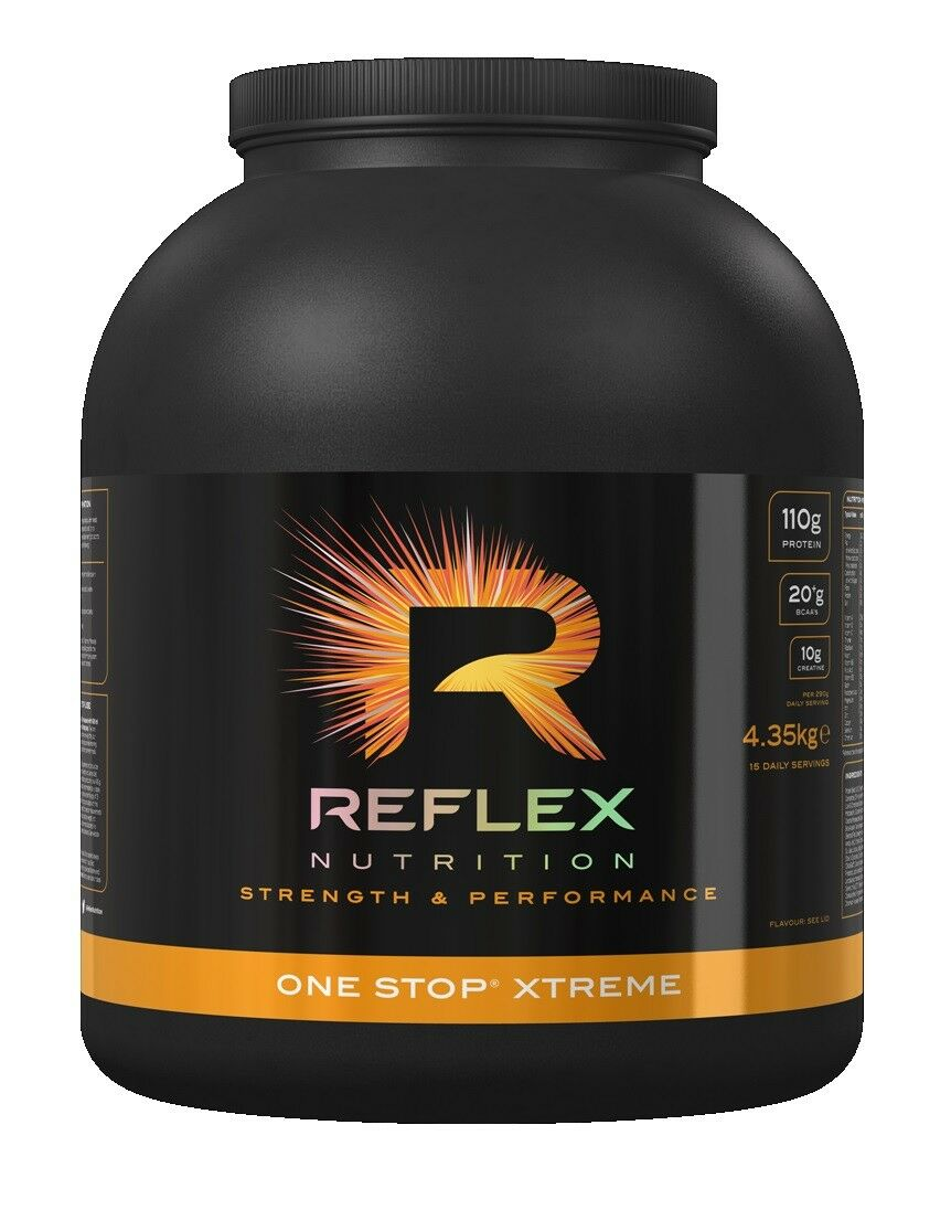 Reflex One Stop Stop One Xtreme Mass Gainer 4.35kg Whey Protein Powder Weight Gainer 8cec1a