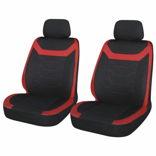 Red Black Look Pair Front Pair Car Seat Covers for Mini Cooper S All Years