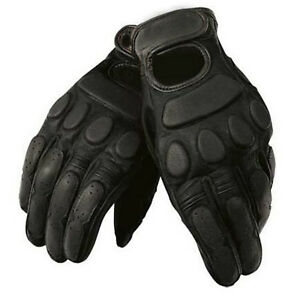 NEW BGA MOTORCYCLE CRUISER ROADSTAR BLACK COW ANILINE SKIN LEATHER GLOVES