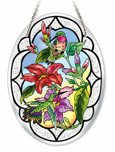 S Sun Oval Stained Glass