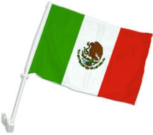"12x15 Mexico Mexican Double Sided Car Window Vehicle 12/""x15/"" Flag FI"