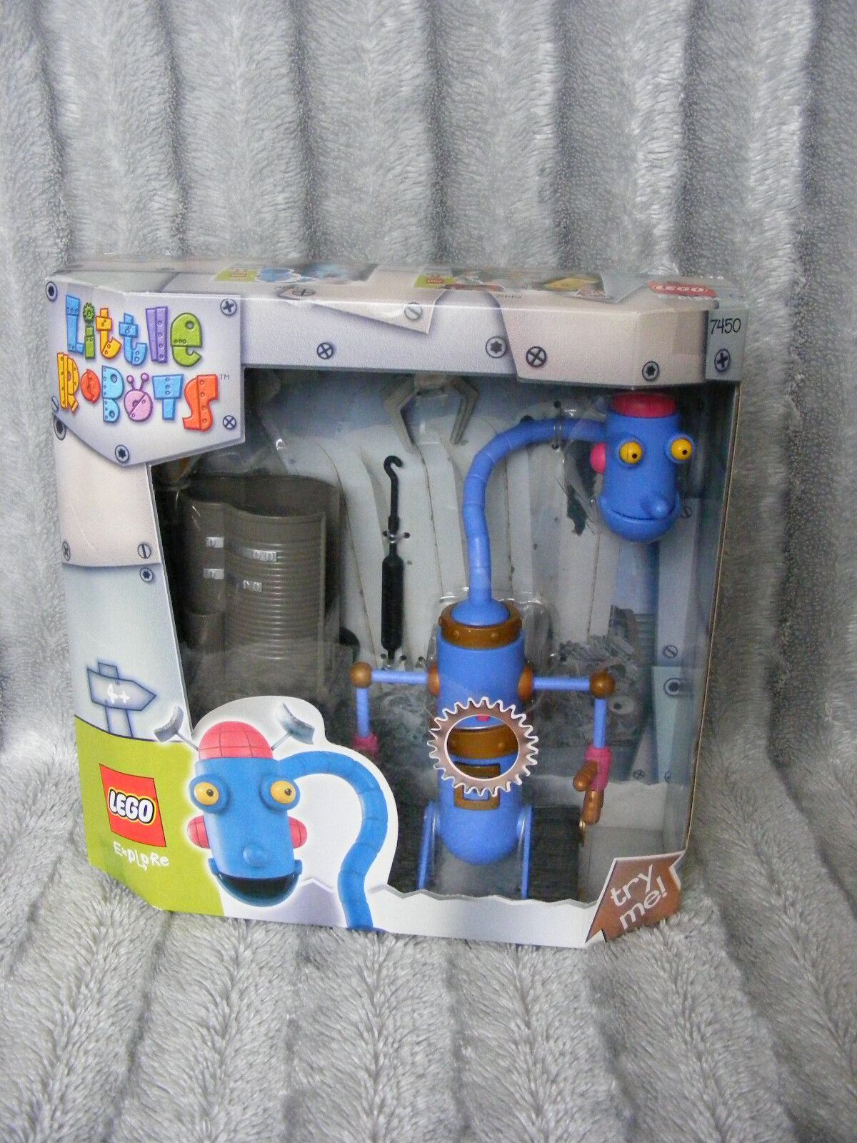 New Lego Explore Little Robots 7450 Stretchy Toy Create TV & Film Limited 2003