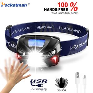 60000Lm-LED-Headlamp-Rechargeable-Headlight-Body-Motion-Sensor-Flashlight-Torch