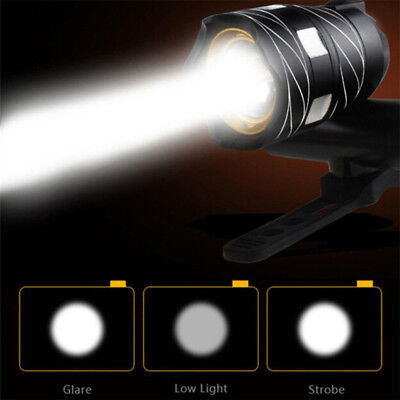 LED USB Rechargeable Bicycle light Bike light front Bycicle Headlight Camping CZ