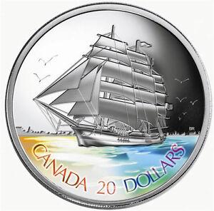 2005-Canada-20-Silver-Coin-3-Masted-Ship-Tall-Ships-Series