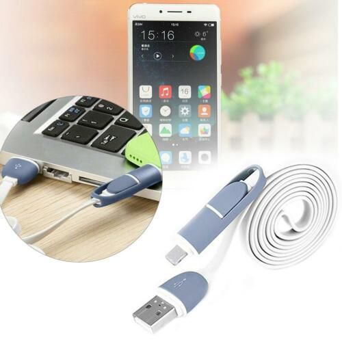 2 in 1 bewegliche Charger Data Sync-Kabel mit Micro-USB für Android iPhone KS