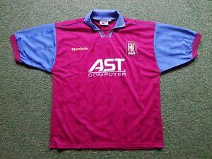 3ed4e955b34 Aston Villa FC Football Shirt XL 1996 Reebok Soccer Jersey Kit Ast ...