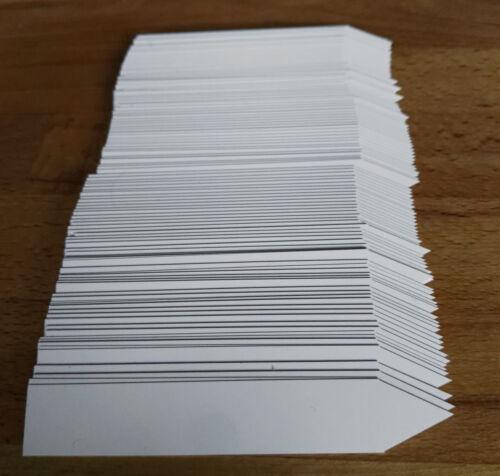 Bis 500 x Stecketiketten Etiketten Kunststoff Weiß Steckschilder Preisschilder