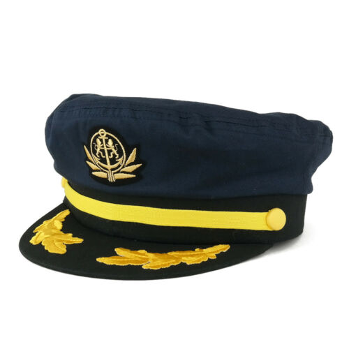 Adjustable Gold Color Embroidery Leafs and Patch Flagship Captain Hat FREESHIP