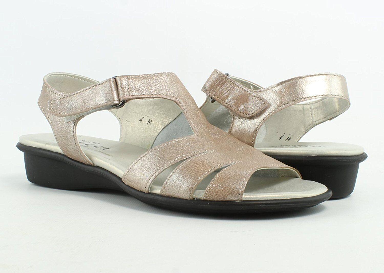 Donna Sesto Meucci Elida Sand Roxy Sandal Medium Width  145 Retail