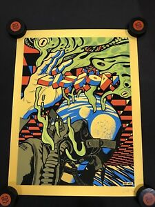 Pearl-Jam-Lisbon-2018-S-N-Ames-Bros-Poster-Gold-Variant-Limited-Edition-81-85