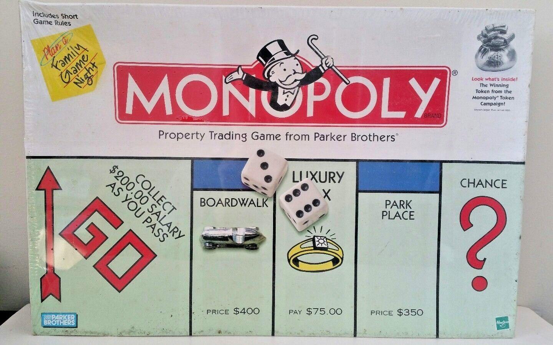 Jahrgang 1999 parker brothers no.0009 - monopol klassischen brettspiel - neue versiegelt