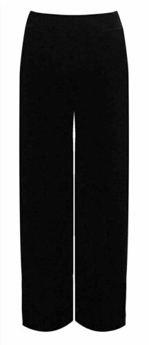 Women Velour Velvet Wide Leg Trousers Ladies Flared Side Pockets Palazzo Pants