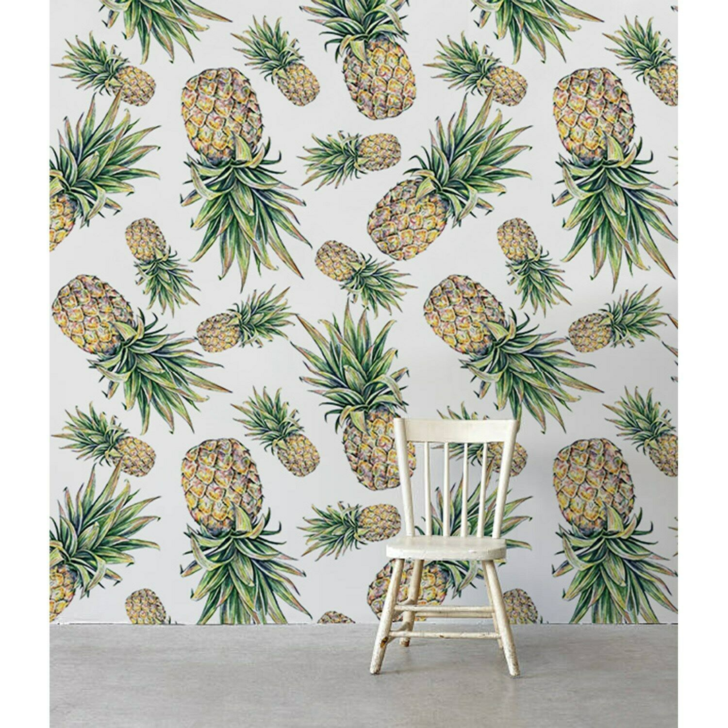 Falling Pineapples Non-Woven wallpaper waterFarbe feminime abstract painting