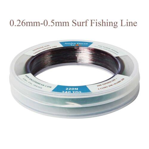 Saltwater Surf Fishing Line Monofilament Fishing Line Nylon Tapered Shock leader