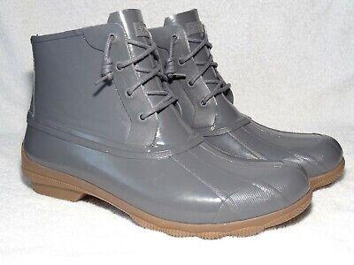 Sperry Top-Sider Women/'s Gulf Memory Foam Duck Boot Dark Grey Size 5