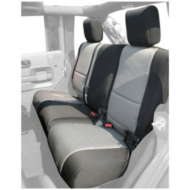 Jeep Wrangler Unlimited(JK)07-16 Neoprene Rear Seat Cover Blk/Gray -Sale to 5May
