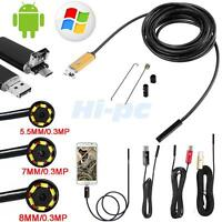 10m Led Android Endoscope Waterproof Inspection Camera Micro Usb Video Camera Us