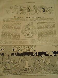 De Paris à Calcutta Conseils Aux Voyageurs Print Art 1907 Oqo3qgfn-07172555-430356549