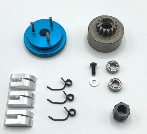 1 set Clutch Bell 14T Gear Flywheel Cone /& Engine Nut for 1//8 RC Model Nitro Car
