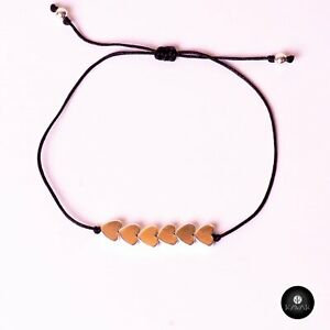 Kavak Handmade Women's Bracelet Copper Hearts  Plain Heart Soul