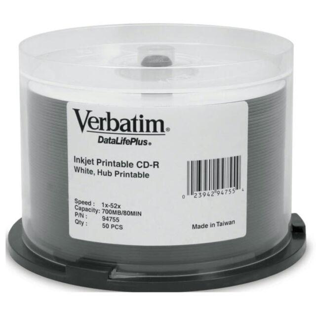 Verbatim (P-Cyanine) CD-R 80min/700MB 50 Pack Spindle 52x