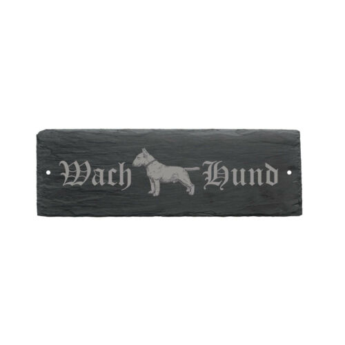 Schild Wachhund « BULLTERRIER » Türschild Hund Hundeschild Hundehütte England