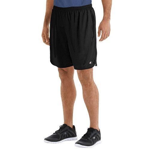 Champion Long Mesh Mens Gym Shorts with Pockets