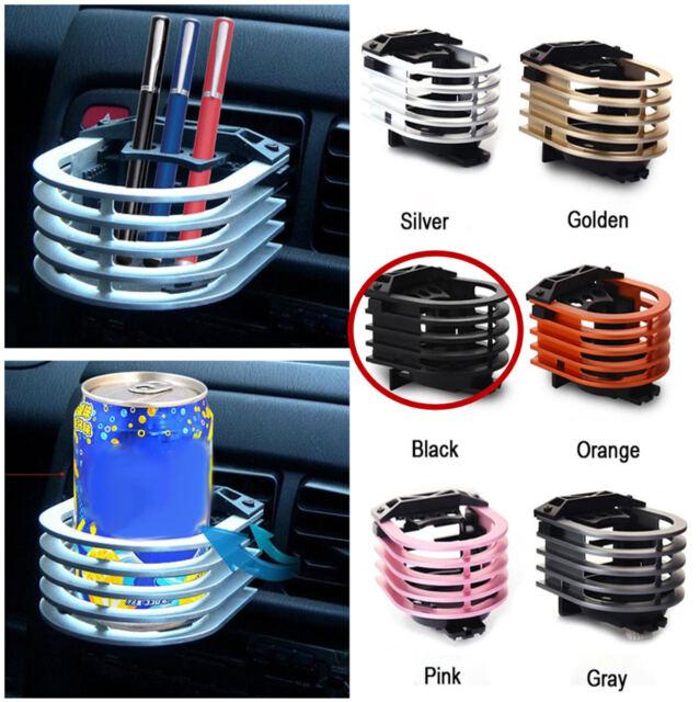 black Air Outlet Drink Holder for Car,Aluminum Alloy Cup Holder for Vehicles