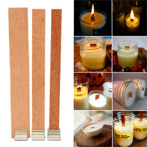 Details about Wholesale Wood Wooden Candle Cores Wick Candle Making  Supplies With Metal Stand