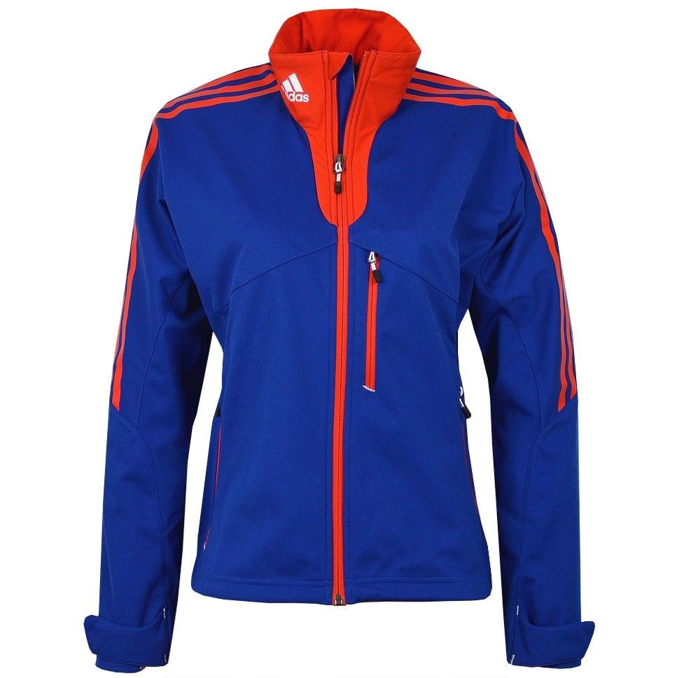 Adidas Softshell Jacke USA DaSie Athletic Trainingsjacke Jacket FIS IBU Blau