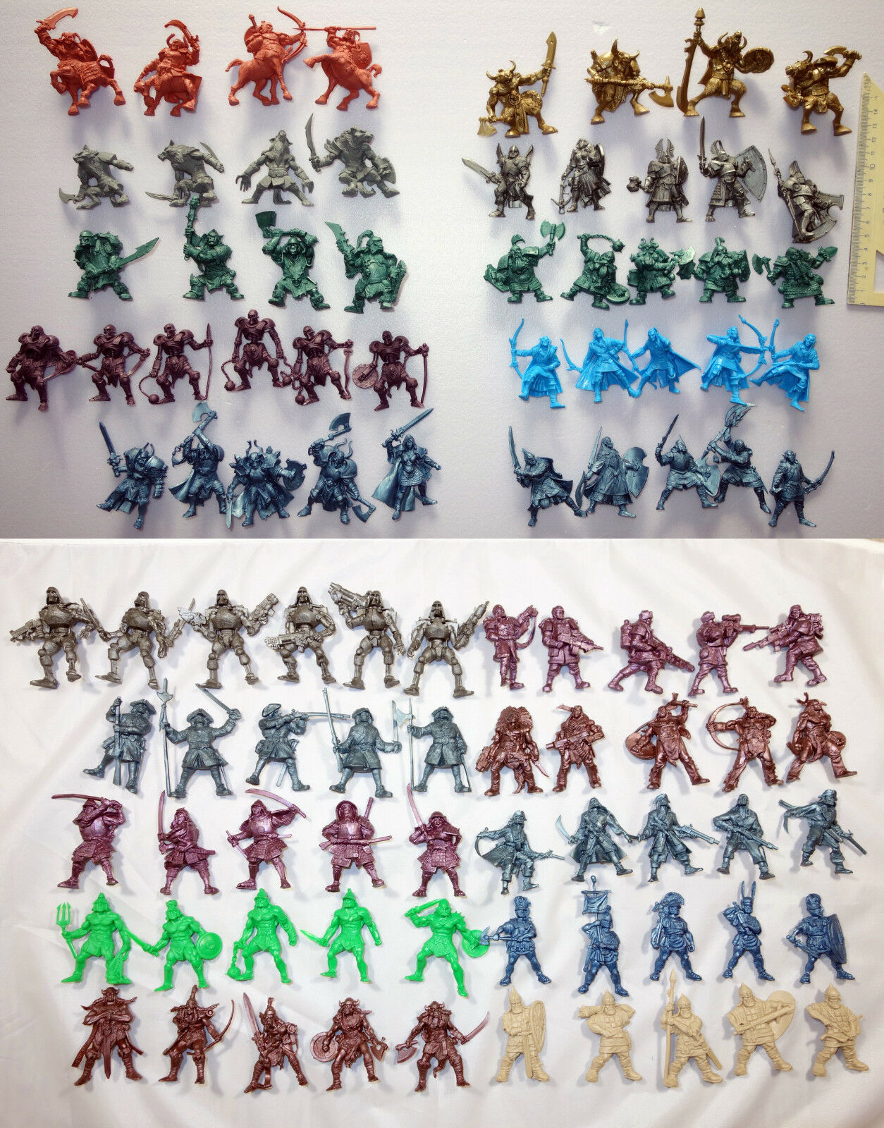 Battle Fantasy Set   98 Plastic Toy Soldiers from Russia, 54mm, Tehnolog, New