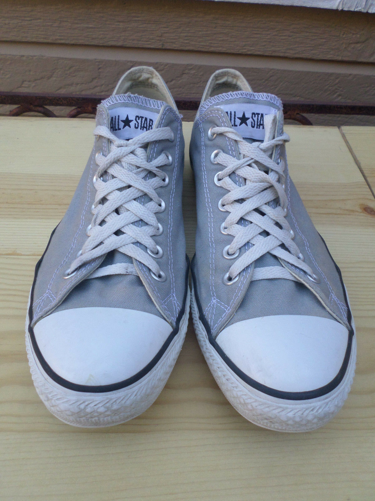 7a397b01c3d Converse All Star Star Star Gray Canvas Sneakers Men s 11 5d03a0 ...