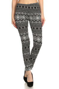 Printed-High-Waist-Ankle-Footless-Stretch-Warm-Fur-Lined-Leggings-O-S