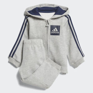 3405c833 Image is loading Adidas-Infant-Boys-Tracksuit-Children-3-Stripes-Hooded-