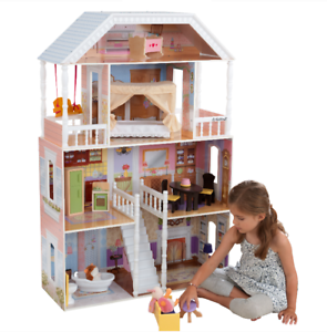 Barbie Dream House /& Furniture Set Pink Dollhouse 3Level Rooms Girl Fun Play Toy