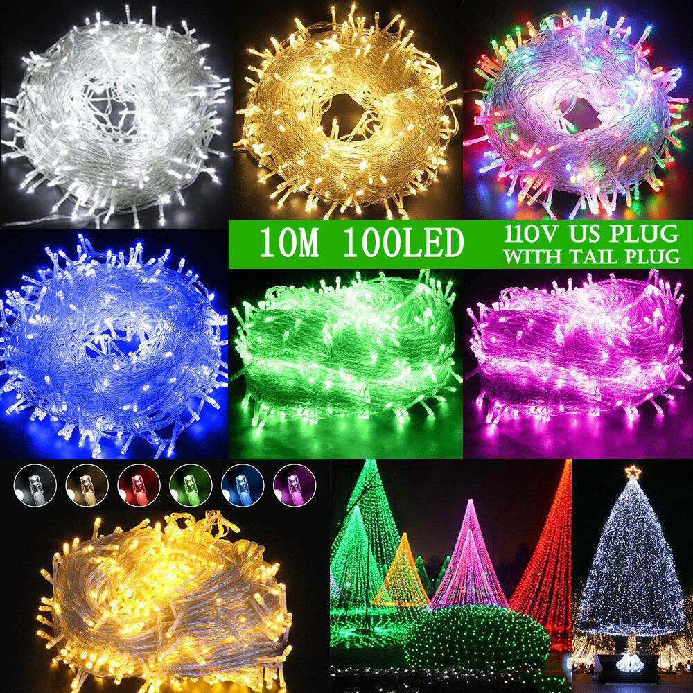 100-1000LED Christmas Fairy String Lights Outdoor Indoor Xma