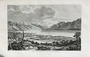 Genfersee-Vevey-Riviera-Pays-D-039-Enhaut-Waadt-Chateau-de-L-Aile-Lac-of-Geneve