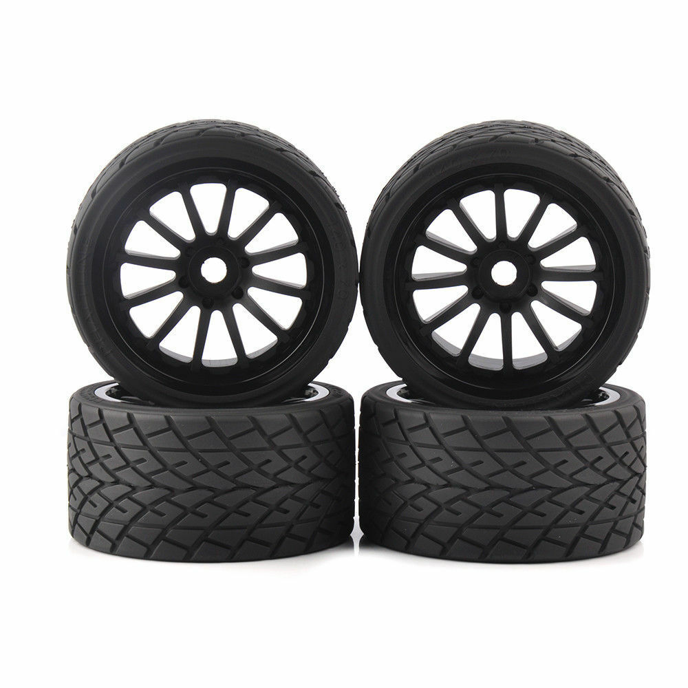 17mm Hex 4x139mm RC Racing Bigfoot Tire Wheel Rim for 1 8 On-Road Car 26412