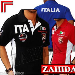 Polo-Herren-T-Shirt-Schwarz-Italia-Italien-Freizeit-S-M-L-XL-XXL-t-4-2-30301
