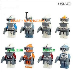 16Pcs Minifigures Custom MOC star wars Rex Fox Wolfpack Clone Storm Trooper 2020