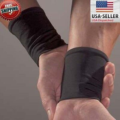 COPPER GEAR WRIST COMPRESSION SLEEVES NEW Pair Athletic Sport Health Wear
