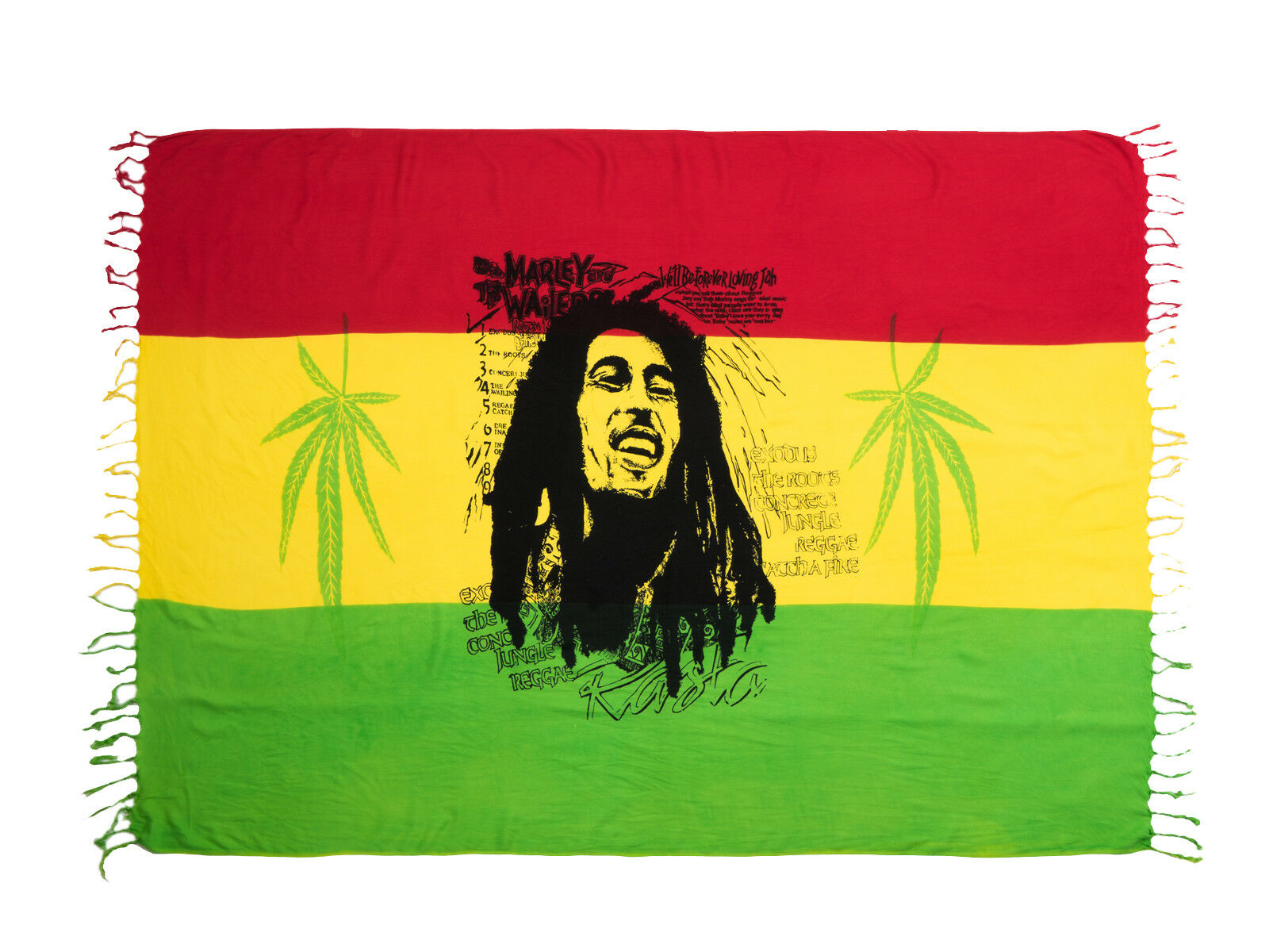 Woman Beach Swimwear Cover-up Wrap Rasta Sarong Scarf Curtain Bob Marley Bali